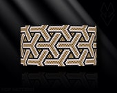 peyote bracelet pattern, peyote pattern, peyote stitch, Miyuki Delica pattern, pdf pattern, beading bracelet tutorial - Gold Bamboo Weave