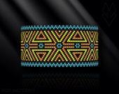 peyote bracelet pattern, peyote pattern, peyote stitch, Miyuki Delica pattern, pdf pattern, beading bracelet tutorial - Holiday Time