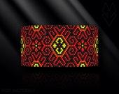 peyote bracelet pattern, peyote pattern, peyote stitch, Miyuki Delica pattern, pdf pattern, beading bracelet tutorial - Ethnic pattern