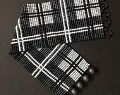 loom bracelet pattern, loom bracelet, loom stitch, Toho Round pattern, pdf pattern, beading bracelet, beading tutorial - Scottish tartan