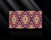 peyote bracelet pattern, odd count peyote pattern, peyote stitch, Toho Round pattern, pdf pattern, beading tutorial - Huichol inspired