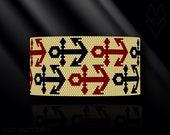 peyote bracelet pattern, odd count peyote pattern, peyote stitch, Toho Round pattern, pdf pattern, beading bracelet tutorial - Anchors
