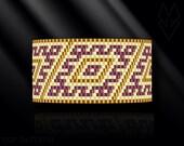 peyote bracelet pattern, peyote pattern, peyote stitch, Miyuki Delica pattern, pdf pattern, beading bracelet tutorial - Magic Rhombus