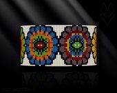 loom bracelet pattern, loom bracelet, loom stitch, Toho Round pattern, pdf pattern, beading bracelet, beading tutorial - Polish folklore
