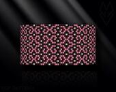peyote bracelet pattern, peyote pattern, peyote stitch, Miyuki Delica pattern, pdf pattern, beading bracelet tutorial - Pink Fantasy
