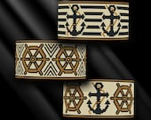 peyote bracelet pattern, peyote stitch, Miyuki Delica pattern, pdf pattern, beading tutorial -  Ahoy Sailor! - Set of 3 patterns