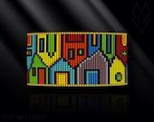loom bracelet pattern, loom bracelet, loom stitch, Toho Round pattern, pdf pattern, beading bracelet - Houses
