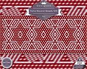 Netting pattern, Nordic huichol bracelet pattern