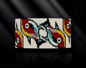 loom bracelet pattern, loom bracelet, loom stitch, Toho Round pattern, pdf pattern, beading bracelet, beading tutorial - Fish