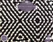 Netting pattern, Optical Illusion huichol bracelet pattern