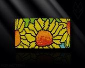 peyote bracelet pattern, even count peyote pattern, peyote stitch, Toho Round pattern, pdf pattern, beading bracelet, tutorial - Sunflowers