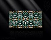 peyote bracelet pattern, peyote pattern, peyote stitch, Miyuki Delica pattern, pdf pattern, beading bracelet tutorial - Ethnic