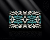 peyote bracelet pattern, odd count peyote pattern, peyote stitch, Toho Round pattern, pdf pattern, bead bracelet tutorial - Ethnic art