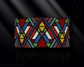 peyote bracelet pattern, odd count peyote pattern, peyote stitch, Toho Round pattern, pdf pattern, beading bracelet tutorial - Art Deco