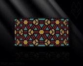 peyote bracelet pattern, odd count peyote pattern, peyote stitch, Toho Round pattern, pdf pattern, beading bracelet tutorial - Stained glass