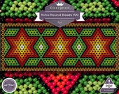 Netting pattern, Stars huichol bracelet pattern