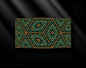 peyote bracelet pattern, odd count peyote pattern, peyote stitch, Toho Round pattern, pdf pattern, beading bracelet tutorial - Magic Cube