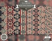 peyote bracelet pattern, peyote stitch, Miyuki Delica pattern, pdf pattern, beading tutorial -  Patriotic Vintage Stars Set of 8 patterns