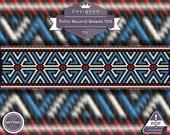 Netting pattern, Huichol bracelet pattern - Holiday Time