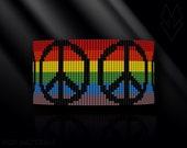 loom bracelet pattern, loom bracelet, loom stitch, Toho Round pattern, pdf pattern, beading bracelet, beading tutorial - Peace rainbow