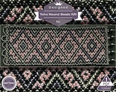 Netting pattern, Boho Pink huichol bracelet pattern