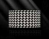 loom bracelet pattern, loom bracelet, loom stitch, Toho Round pattern, pdf pattern, beading bracelet - Pied-de-poule, houndstooth