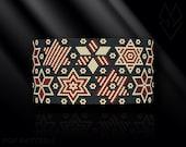 peyote bracelet pattern, peyote pattern, peyote stitch, Miyuki Delica pattern, pdf pattern, beading tutorial - Patriotic Vintage Stars