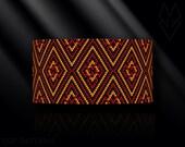 peyote bracelet pattern, odd count peyote pattern, peyote stitch, Toho Round pattern, pdf pattern, beading bracelet tutorial - Flaming