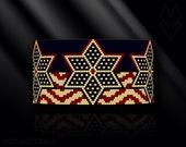 peyote bracelet pattern, odd peyote, peyote stitch, Toho Round pattern, pdf pattern, beading bracelet tutorial -Patriotic Vintage Stars