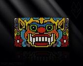 loom bracelet pattern, loom bracelet, loom stitch, Toho Round pattern, pdf pattern, beading bracelet, beading tutorial - Thai Khon Mask