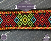 Netting pattern, Boho chic - netting pattern, huichol pattern