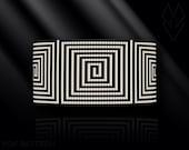 loom bracelet pattern, loom bracelet, loom stitch, Toho Round pattern, pdf pattern, beading bracelet, beading tutorial - Maze