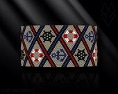 peyote bracelet pattern, odd count peyote pattern, peyote stitch, Toho Round pattern, pdf pattern, beading bracelet tutorial - Nautical