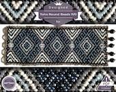 Netting pattern, Original huichol bracelet pattern