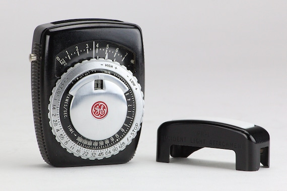 Working Camera LIGHT METER BAKALITE with Incident Attachment /& Leather CASE