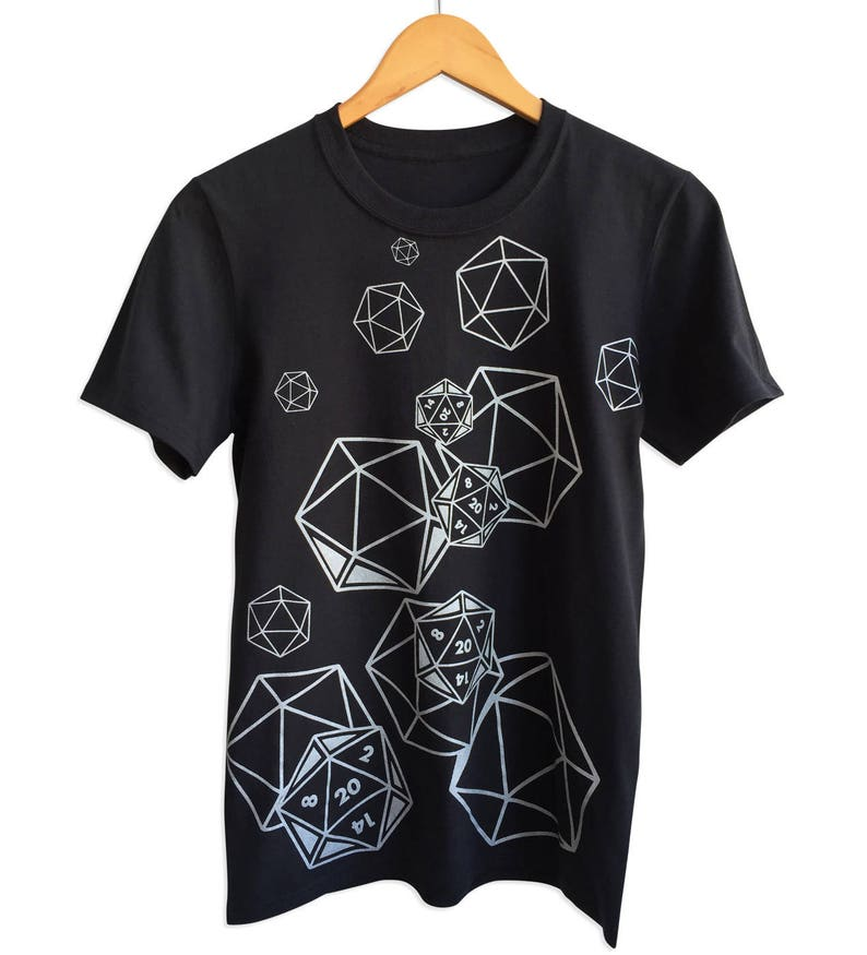 f9f745571 Dungeons and Dragons T-Shirt. D20 Dice Shirt Black. Geeky | Etsy