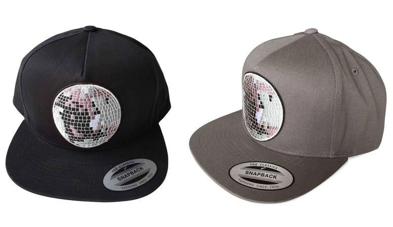 2fd2e8123eb Disco Ball Graphic Snapback Hat Dj gift. Mirror ball flatbill