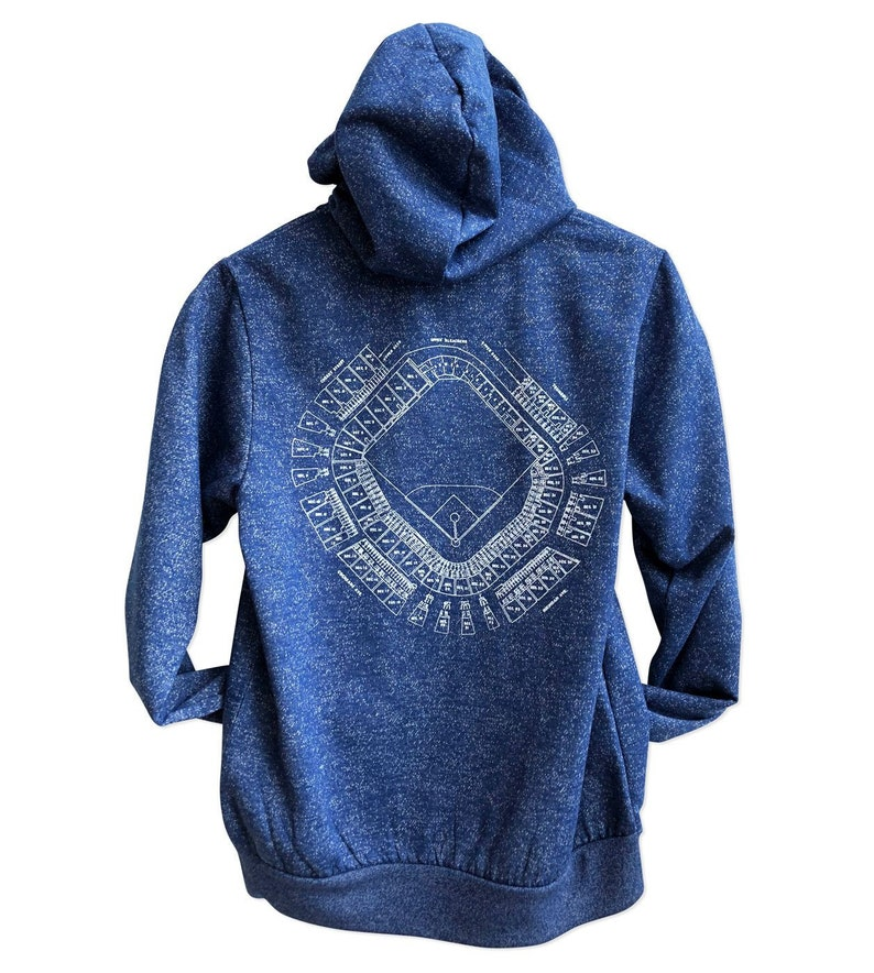 on sale 8aa3a aaef0 Old Tiger Stadium Blueprint Pullover Hoodie. Corktown Detroit Tigers Fan  Sweatshirt. Briggs Stadium Navin Field Seating Chart Fleece Hoodie