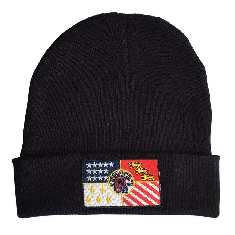 9a9f1151ff5 Detroit City Flag Beanie. Detroit Flag Cap. Gift for