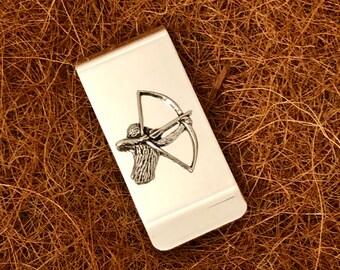 Archery Archer Pendant Oval Trinket Jewelry Box