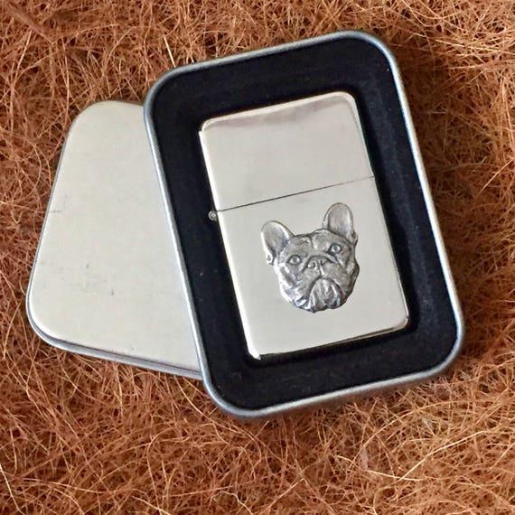 British Bulldog Petrol Lighter FREE ENGRAVING Gift Box
