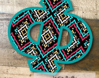 Individual DIY Iron On Letter - Indie Buffy on Shark Teal Twill