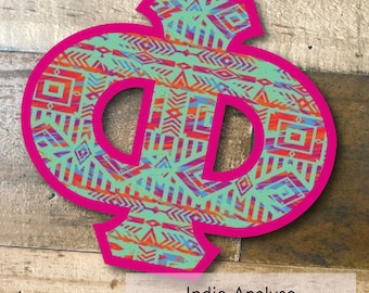 Individual DIY Iron On Letter - Indie Analyse on Greek Pink Twill
