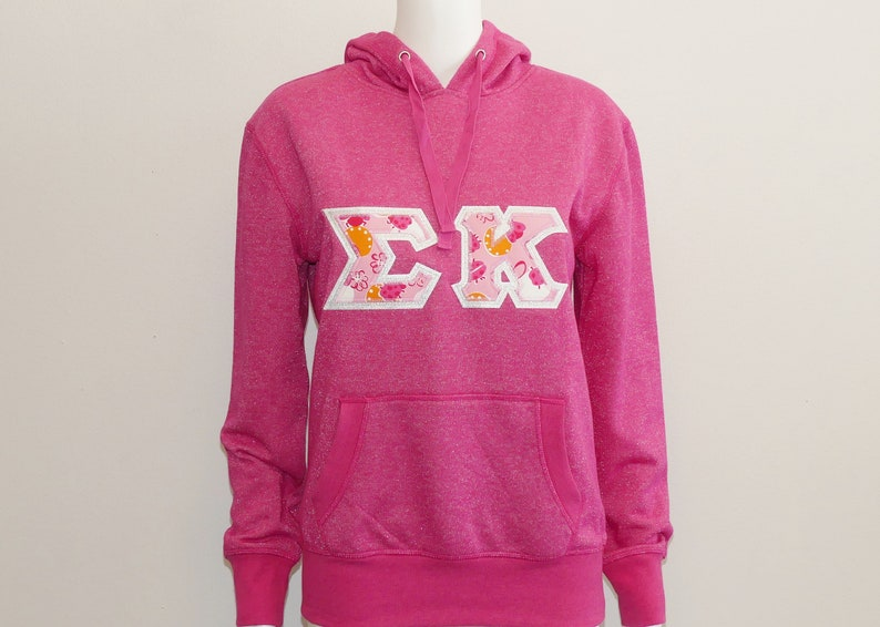 Sigma Kappa Wildberry Sparkle Lightweight Sorority Letter Hoodie