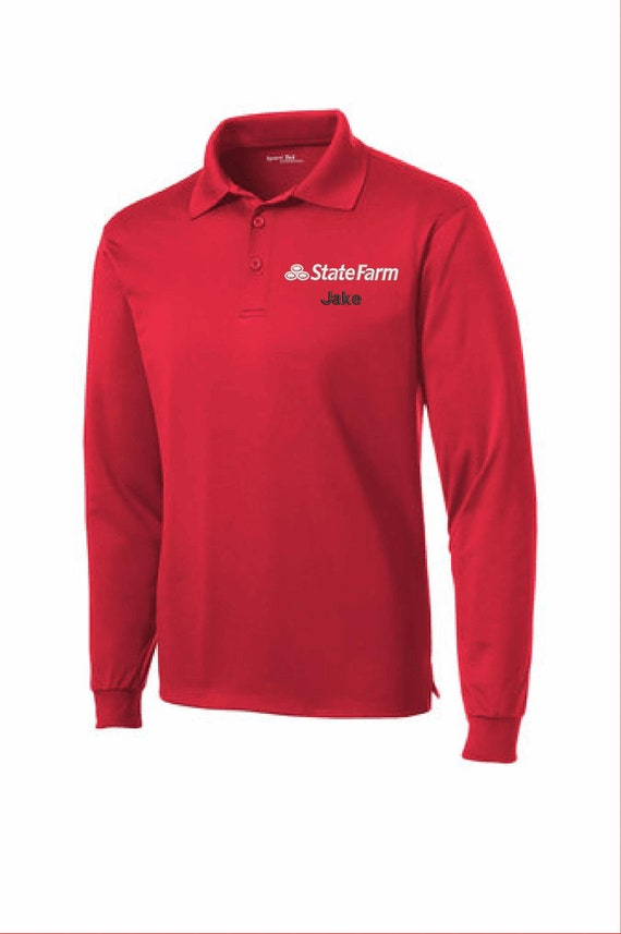 Jake State Farm Halloween Costume Embroidered Red Shirt Short Etsy
