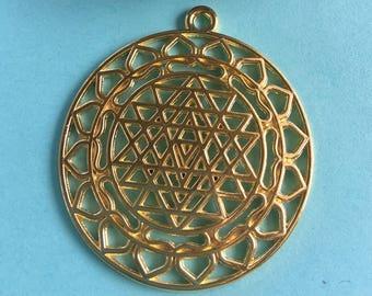 SET of TWO (02)  Sri Yantra Pendant-Charms