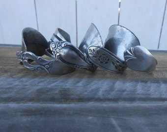 Upcycled Silverware Napkin Rings- Sets Available
