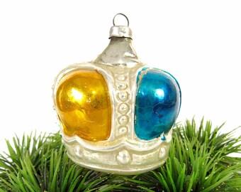 SKU 30-402-00031363 Mercury Ornament Blown figural Glass Ornaments VINTAGE: Czech Republic Crown Ornament