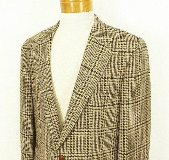 1980s Chaps Wool Silk Blend Sport Coat 43R