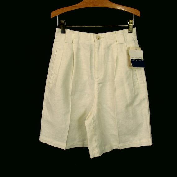 Vintage Bermuda Shorts Linen Blend New w/ Tags